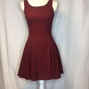 Divided H&M burgundy dress